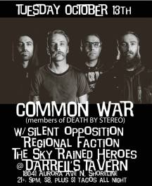 OCT 13TH - COMMON WAR