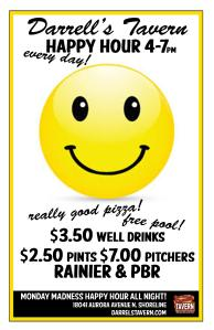 Happy Hour Smiley 1- darrell's Tavern
