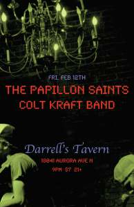 FEB. 12TH - PAPILLON SAINTS AT DARRELLS