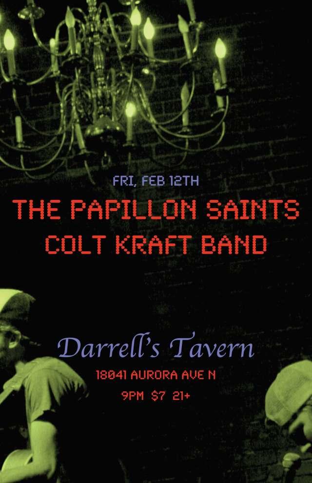 FEB. 12TH - PAPILLON SAINTS AT DARRELLS