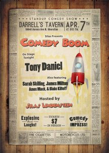APRIL 7TH - COMEDY